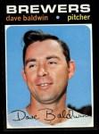 1971 Topps #48  Dave Baldwin  Front Thumbnail