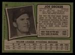 1971 Topps #98  Joe Decker  Back Thumbnail