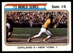 1974 Topps #477   -  Reggie Jackson 1973 World Series - Game #6 Front Thumbnail