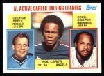 1984 Topps #710   -  Rod Carew / George Brett / Cecil Cooper AL Active Career Batting Leaders Front Thumbnail
