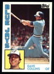 1984 Topps #733  Dave Collins  Front Thumbnail