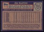 1984 Topps #772  Jim Slaton  Back Thumbnail