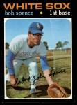 1971 Topps #186  Bob Spence  Front Thumbnail
