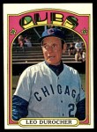 1972 Topps #576  Leo Durocher  Front Thumbnail