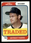 1974 Topps Traded #612 T Luke Walker  Front Thumbnail