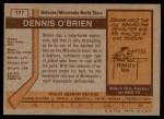 1973 Topps #177  Dennis O'Brien   Back Thumbnail