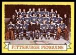 1973 Topps #104   Penguins Team Front Thumbnail