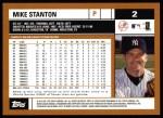 2002 Topps #2  Mike Stanton  Back Thumbnail