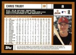 2002 Topps #8  Chris Truby  Back Thumbnail