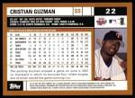 2002 Topps #22  Cristian Guzman  Back Thumbnail
