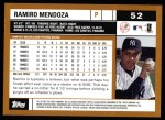 2002 Topps #52  Ramiro Mendoza  Back Thumbnail