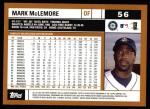 2002 Topps #56  Mark McLemore  Back Thumbnail