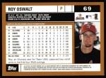 2002 Topps #69  Roy Oswalt  Back Thumbnail
