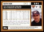 2002 Topps #101  Keith Osik  Back Thumbnail
