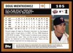 2002 Topps #105  Doug Mientkiewicz  Back Thumbnail