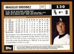 2002 Topps #130  Magglio Ordonez  Back Thumbnail