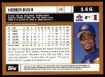 2002 Topps #146  Homer Bush  Back Thumbnail