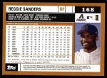 2002 Topps #168  Reggie Sanders  Back Thumbnail