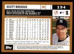 2002 Topps #194  Scott Brosius  Back Thumbnail