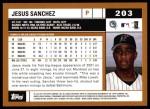 2002 Topps #203  Jesus Sanchez  Back Thumbnail
