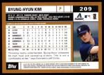 2002 Topps #209  Byung-Hyun Kim  Back Thumbnail