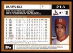 2002 Topps #213  Darryl Kile  Back Thumbnail