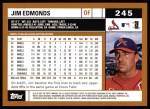 2002 Topps #245  Jim Edmonds  Back Thumbnail