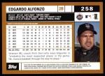 2002 Topps #258  Edgardo Alfonzo  Back Thumbnail