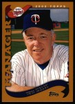 2002 Topps #297  Tom Kelly  Front Thumbnail