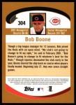 2002 Topps #304  Bob Boone  Back Thumbnail