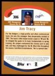 2002 Topps #306  Jim Tracy  Back Thumbnail