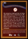 2002 Topps #351   New York Yankees - Playoff-Bound Back Thumbnail
