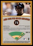 2002 Topps #365 VV  -  Barry Bonds Home Run 73 Back Thumbnail