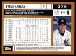 2002 Topps #379  Steve Karsay  Back Thumbnail