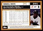 2002 Topps #391  Rondell White  Back Thumbnail