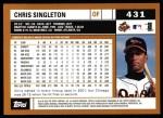 2002 Topps #431  Chris Singleton  Back Thumbnail
