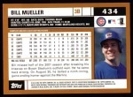 2002 Topps #434  Bill Mueller  Back Thumbnail
