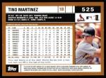 2002 Topps #525  Tino Martinez  Back Thumbnail