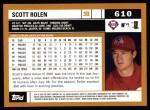 2002 Topps #610  Scott Rolen  Back Thumbnail