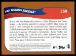 2002 Topps #650   Colorado Rockies Back Thumbnail