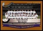2002 Topps #650   Colorado Rockies Front Thumbnail