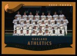 2002 Topps #661   Oakland Athletics ( A's ) Front Thumbnail