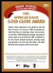 2002 Topps #701   -  Omar Vizquel Golden Glove Back Thumbnail