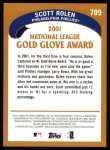 2002 Topps #709   -  Scott Rolen Golden Glove Back Thumbnail