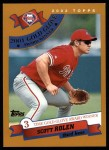 2002 Topps #709   -  Scott Rolen Golden Glove Front Thumbnail