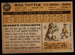 1960 Topps #367  Bill Tuttle  Back Thumbnail