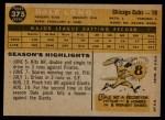 1960 Topps #375  Dale Long  Back Thumbnail