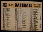 1960 Topps #484   Pirates Team Checklist Back Thumbnail