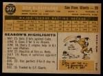 1960 Topps #397  Don Blasingame  Back Thumbnail