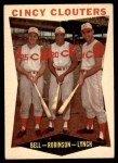 1960 Topps #352   -  Gus Bell / Frank Robinson / Jerry Lynch Cincy Clouters Front Thumbnail